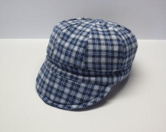 Flannel Baby Cap /Plaid Baby Cap/ Plaid Baby Hat