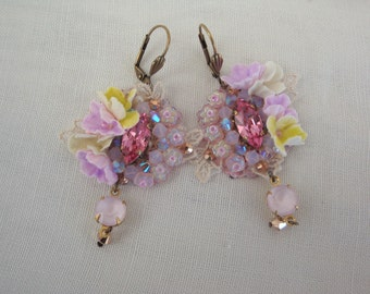 earrings shabby chic romantique