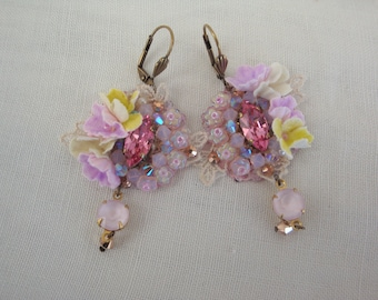 earrings shabby chic romantique