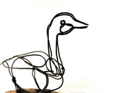 Goose Wire Sculpture, Wire Art, Minimal Wire Sculpture, Calder Inspired, 258263870
