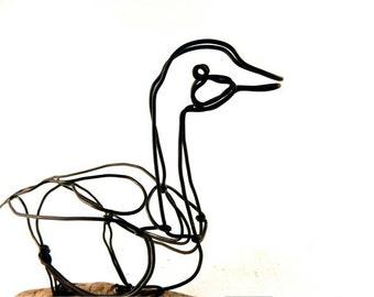 Goose Wire Sculpture, Wire Art, Minimal Wire Sculpture, Calder Inspired, 258263870
