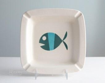 Vintage Metlox Tropicana Modern Fish California Pottery Ashtray Dish