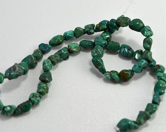 Turquoise nuggets (dyed howlite), 5-8mm - #1888