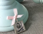 Bouquet Photo Charm - SILVER finish