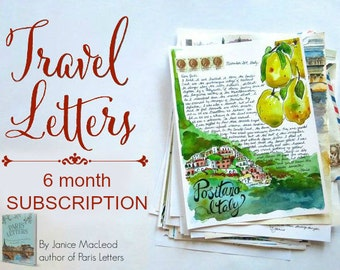 TRAVEL LETTERS: 6 month subscription