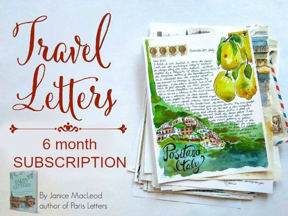 TRAVEL LETTERS: 6 month subscription by JaniceArtShip on Etsy