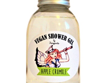 Vegan Shower Gel Apple Crumble, vegan skincare, Cruelty Free, indie cosmetics, vegan cosmetics, indie perfume, vegan bath and body