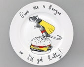 Give me a Burger side plate