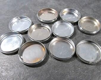 Watch Backs Bezels VINTAGE Watch Parts Ten (10) Assorted Watch Backs Bezels Vintage Watch Repair Jewelry Art Supplies (N136)