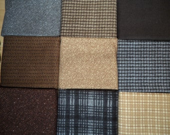 Woolies Flannel fat quarters