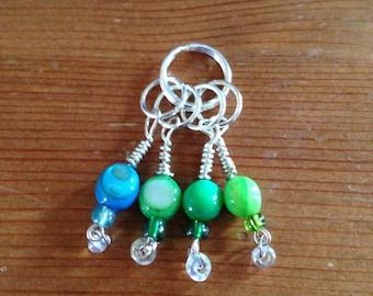 Glass Bead Stitch Markers - Set of 4
