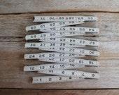 Vintage All American Wooden Folding Ruler // White & Black // Accordion Ruler