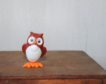 Vintage Wind Up Owl Figurine // Owl Toy // Owl Collectible