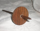 Split Notched Spindle Bocote and Walnut with silver twist low whorl 22 g