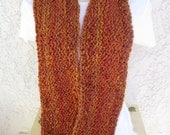 Cozy Comfort Infinity Scarf (Doubles as a Cowl) in Wild Fire (Burnt Sienna, Gold, Green)