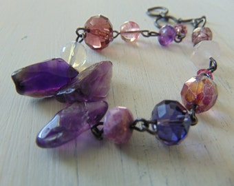 20% off Any Order Amathyst and Glass Bracelet