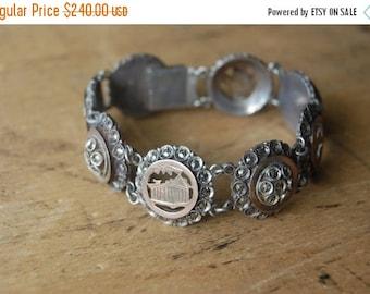 SALE Antique Victorian Grecian souvenir bracelet ∙ Rhodes Greece antique souvenir bracelet