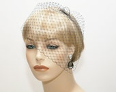 Wedge Veil- Mini Birdcage Veil- Wedding Veil