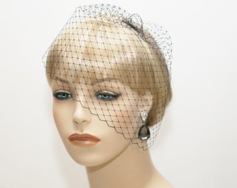 Wedge Veil- Mini Birdcage Veil- Wedding Veil