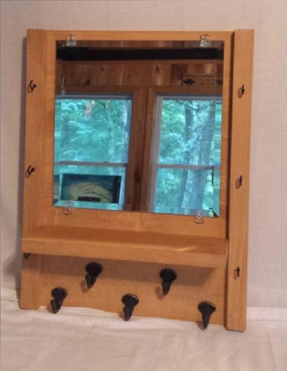 Foyer Mudroom Jewelry : Items similar to mirror with shelf jewelry organizer