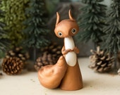 Red English Squirrel Figurine by Bonjour Poupette