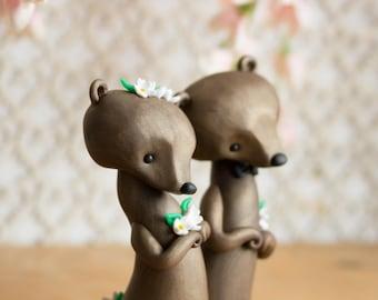 Brown Bear Wedding Cake Topper by Bonjour Poupette