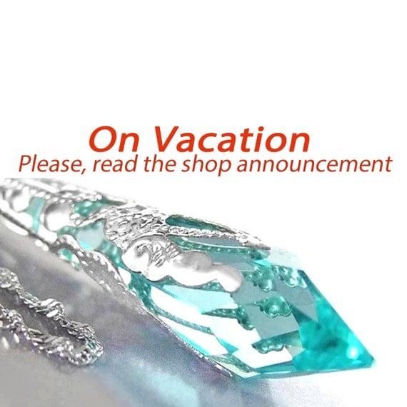 Crystal Seafoam Green Aquamarine Necklace Sterling Silver Necklace Swarovski Crystal Necklace Aquamarine Pendant Necklace Victorian Jewelry