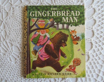 Vintage The Gingerbread Man A Little Golden Book A Edition Simon and Schuster 1953 1st Edition