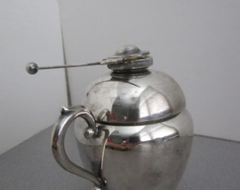 "Vintage "" Cheshire "" silver plate coffee/tea pot with burner # 206  1920-1940s"