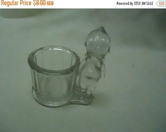 August Blowout Sale Vintage Glass Kewpie Toothpick Holder, collectable