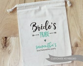 Bride's Tribe with heart - Personalized Favor Bags - Set of 10 - Bachelorette Party - Wedding Shower