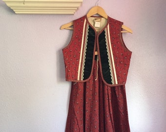 Vintage Jessicas Gunnies Vest and Skirt Set