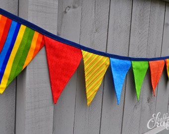 Fabric Penant Banner, Handmade by Lisa