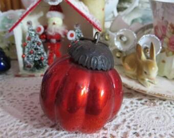 Vintage Red Kugel Round Ornament