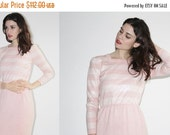 FLASH SALE ends Feb 15th D - Vintage Knit Dress -  Pastel Pink Dress - The Gentle Touch Dress - 7004