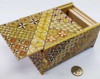 Japanese Puzzle box (Himitsu bako)- 6inch (150mm) Standard 14steps Yosegi
