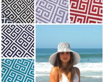 Summer Sun Hat Wide Brim Sunhat for Vacation Travel Hat Women's Sun Hat Black, Gray, Aqua Hat Gardening Pool Hat by  Freckles California