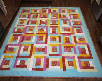 Courthouse Squares Full Sized Quilt