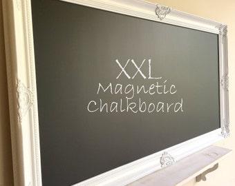KITCHEN CHALKBOARD Home Office Decor MAGNETIC Chalkboard for Sale White Framed Chalkboard Wedding Seating Card Holder Restaurant Menu Board