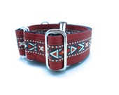 "Houndstown 1.5"" Banded Aztec Martingale or Buckle Collar Size Small through X-Large"