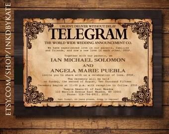 Unique Telegram Invitation Related Items Etsy