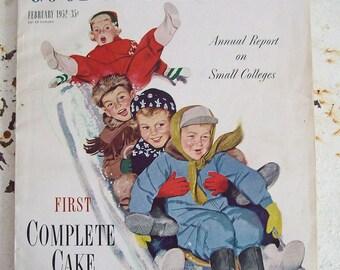 Vintage magazine Good Housekeeping February 1952 complete magazine very good condition