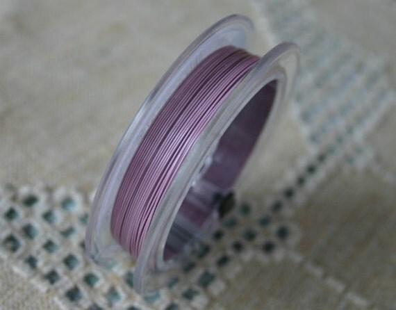 accu flex beading wire 49 strand 014 30 ft blush pink 0