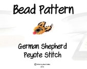 German Shepherd Seed Bead Pattern, Peyote Stitch Dog | DIGITAL DOWNLOAD