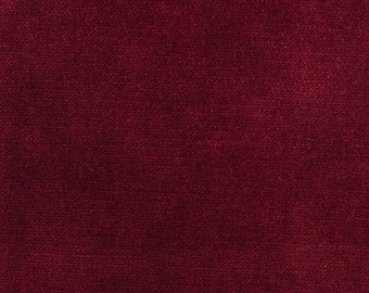Ruby red solid velvet decorative pillow cover