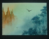 aceo art painting fantasy landscape ref 264
