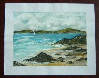 acrylic art painting seascape original ref 332