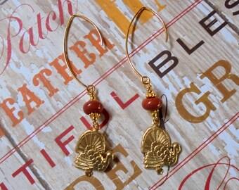 Thanksgiving Turkey Earrings (2959)