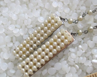 sweater guard vintage  sweater clip molded pearl like
