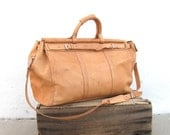 Giant Duffle Birkin Tan Leather Travel Bag with Shoulder Strap